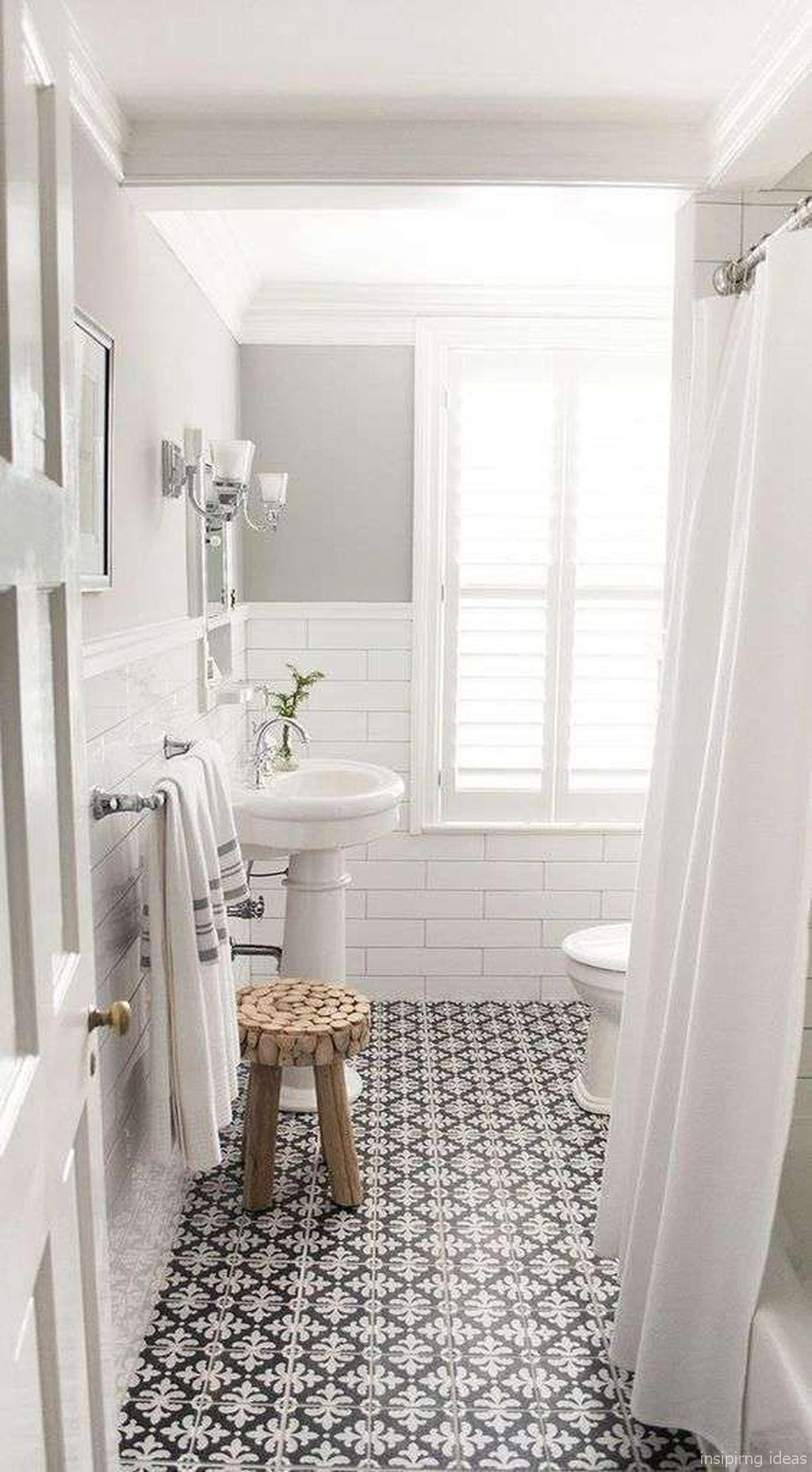 Nice 67 Incredible Modern Farmhouse Bathroom Tile Ideas ... on Rustic Farmhouse Bathroom Tile  id=46392
