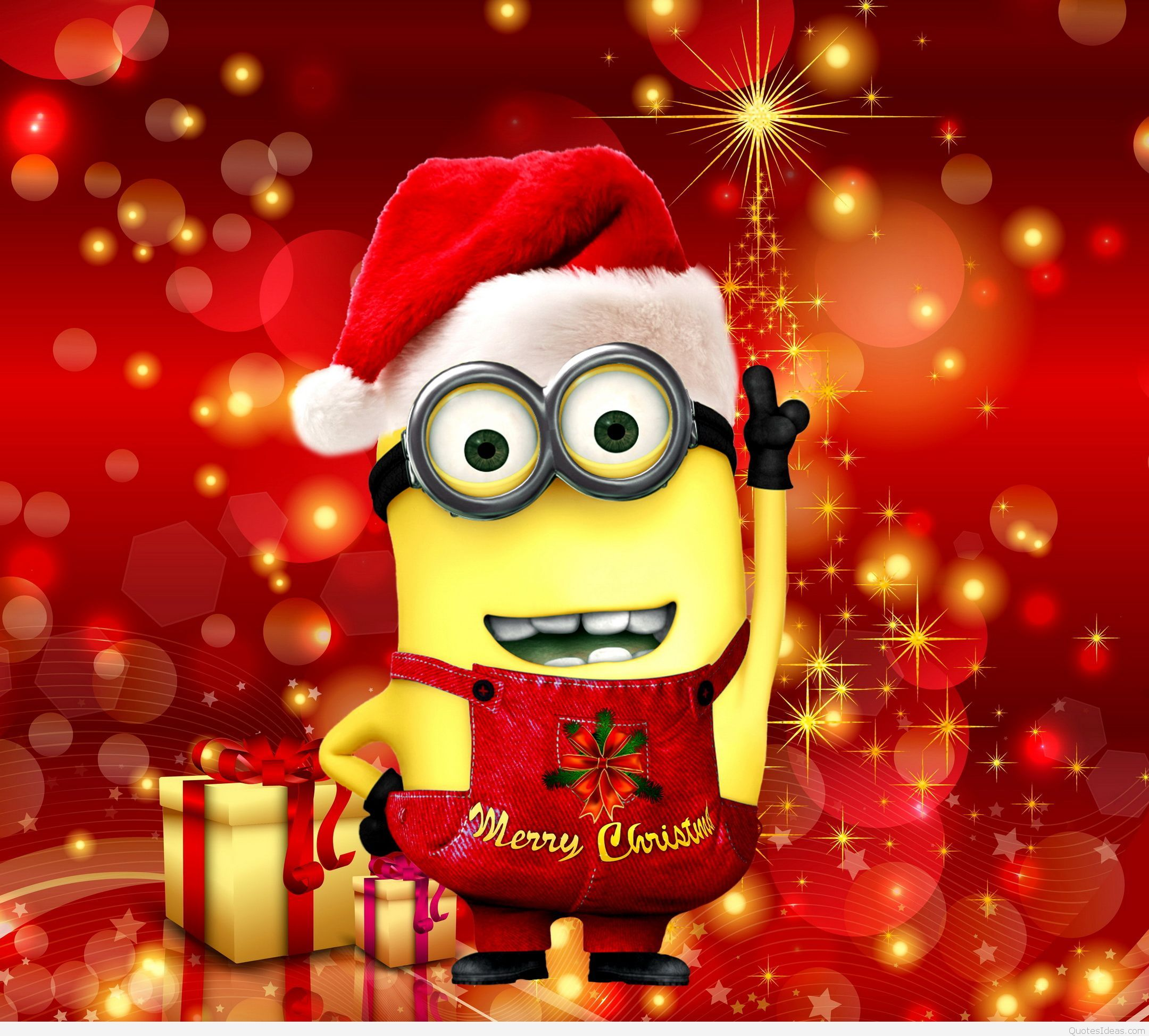 Merry Christmas! Minion Wallpaper Minion christmas
