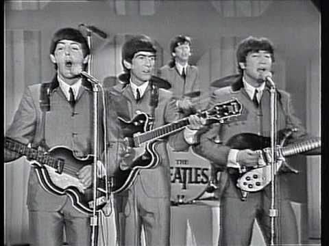 """""""I Want to Hold Your Hand"""" by the Beatles (Feb. 16, 1964, Ed Sullivan Show). I watched this!"""