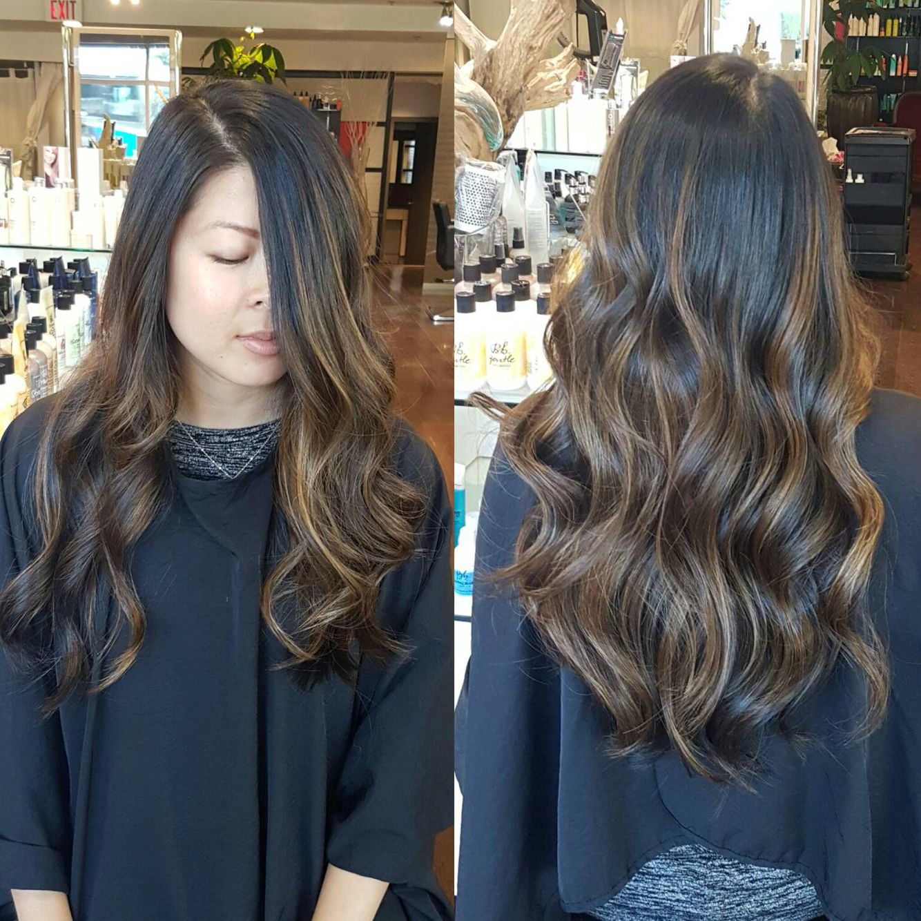 Asian Balayage Done Without Bleach To Keep Hair Looking Healthy Ash Brown
