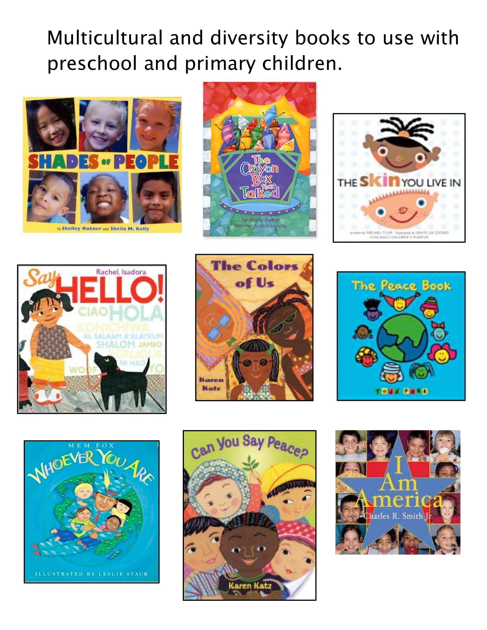 Special Books I Use With My Preschool Class During My