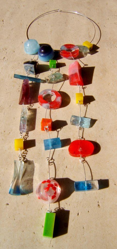 collar caramelos | variadas piezas de resina unidas con alam… | Flickr