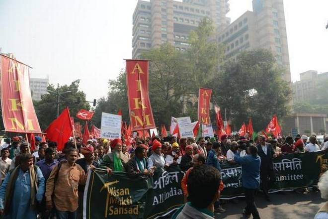 All India Kisan Sangharsh Coordination Committee Aikscc March From Ramlila Ground To Parliament Street In New Delhi On Monday Delhi Protest Farmer