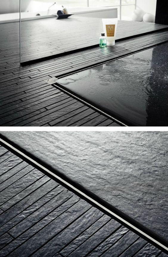 schiefer mosaik in der dusche. Black Bedroom Furniture Sets. Home Design Ideas