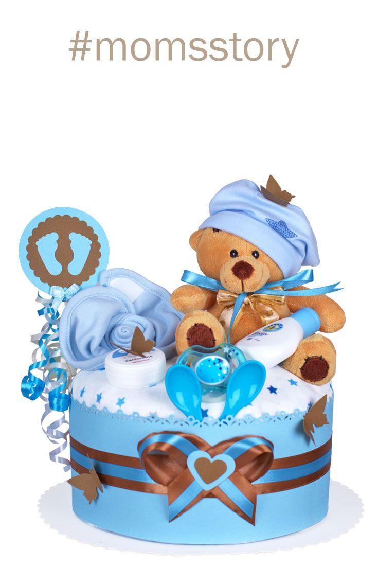Das perfekte Geschenk zur Geburt /& Taufe Cake Dream Windeltorte Junge
