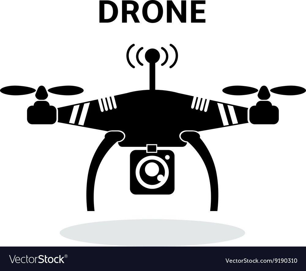 Drone Black And White Vector Drone Drone Logo Vector
