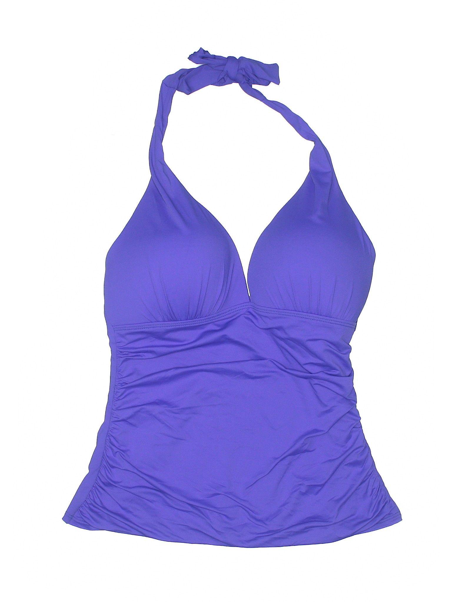 a6ed34a01097b Ralph Lauren Swimsuit Top: Size 10.00 Purple Women's Swimwear - New With  Tags - $23.99