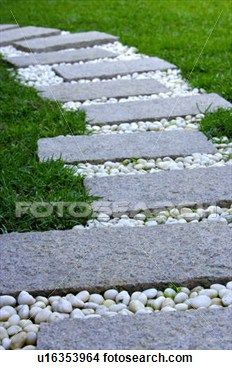 Stepping Stones In Garden Picture