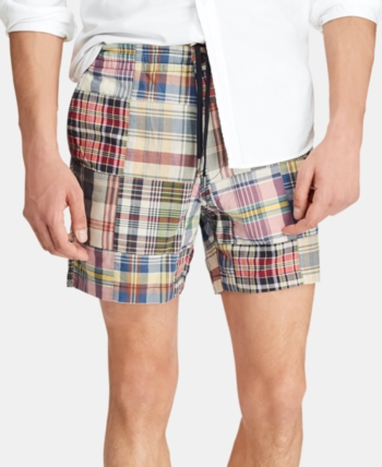 42a35a56c4 Polo Ralph Lauren Men's Big & Tall Classic-Fit Polo Prepster Shorts -  Patchwork Madras