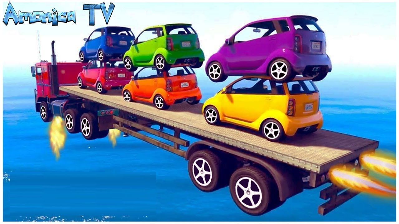 Learn Colors Vehicle Small Car Car Cartoon Videos For Kids