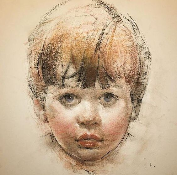 41 Portrait Of Child In Crayon Work Ideas II #Baby # ...