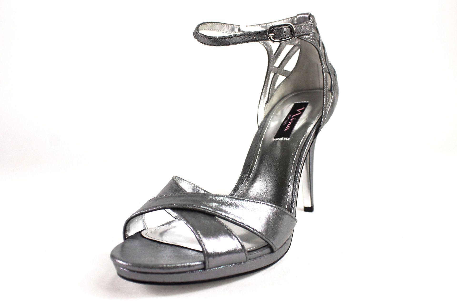 b209fe70f66 Nina Silver Rebbie Silver Dress Sandals