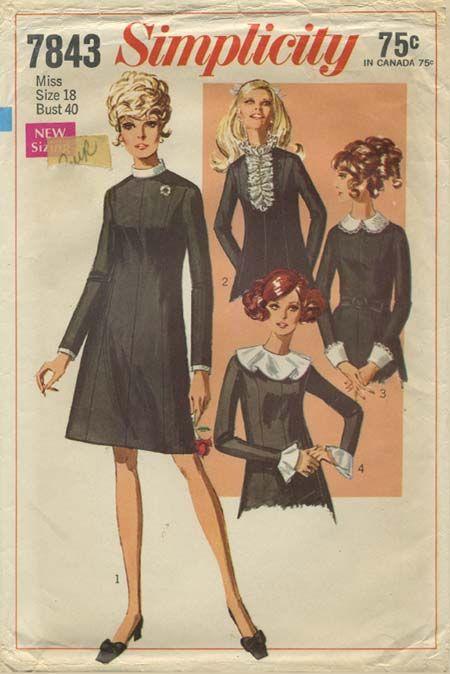 Vintage Sewing Pattern | Little Black Dress | Simplicity 7843 | Year ...