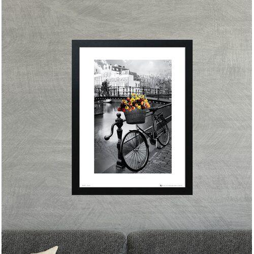 East Urban Home Gerahmtes Poster Fahrrad in Amsterdam | Wayfair.de