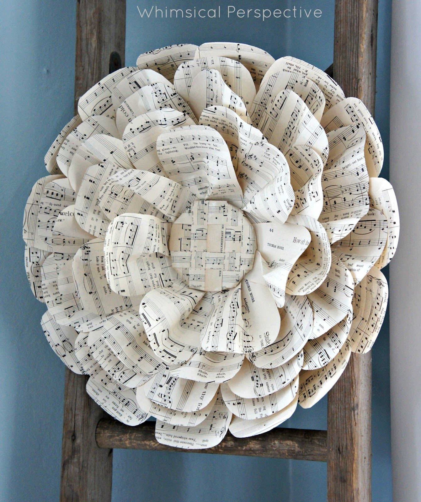 Whimsical Perspective: Fun Sheet Music Flowers
