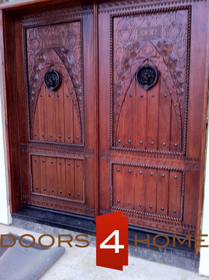 Moroccan Carved Wood Panel | Exotic Front Doors | Doors4Home : exotic front doors - pezcame.com