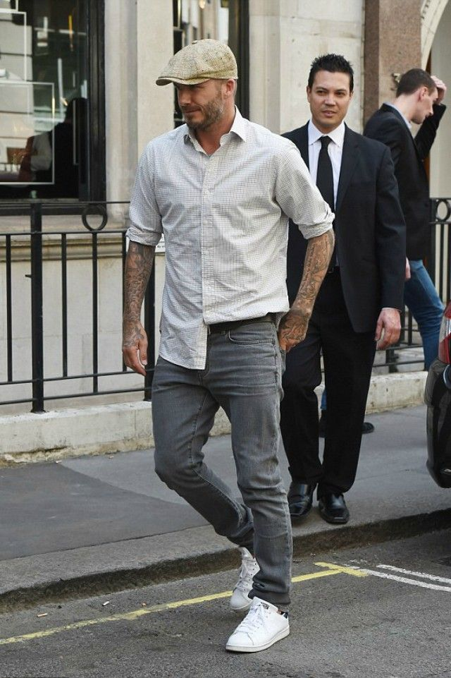 David Beckham - Helping out, visits Victoria's Dover Street store