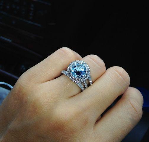 a7236ed193608 Tiffany Aquamarine Ring | Jewelry | Rings, Aquamarine rings, Tiffany ...
