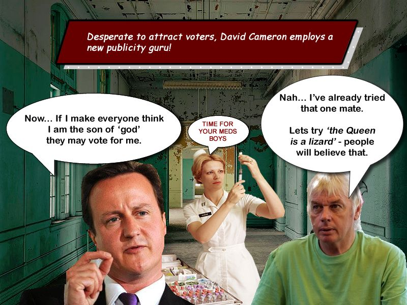 Not a good week for the government and Cameron's God ...