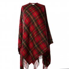 Pure Lambswool Tartan Cape, Maple