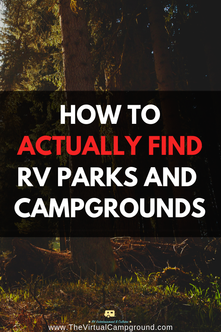 How To Actually Find RV Parks & Campgrounds