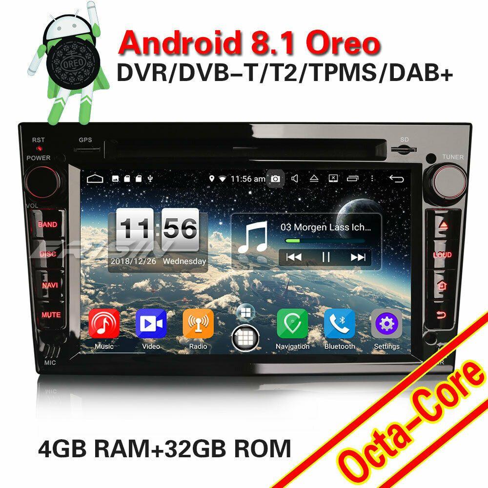 Ebay Angebote Mp3 Dab Android 8 1 Gps Autoradio Opel Astra Zafira