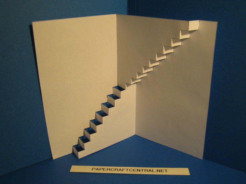 Kirigami stairs up kirigami pinterest kirigami for Kirigami paper art
