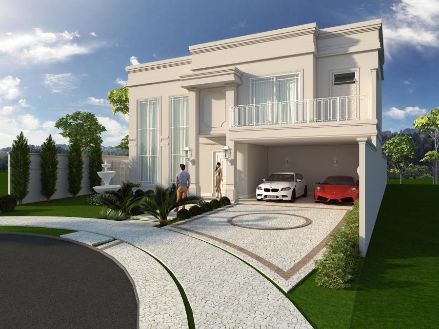 Projeto casa estilo neocl ssica mans o luxuosa campinas for Foto casa classica