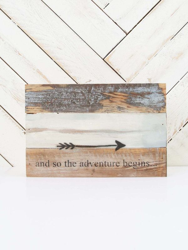 So The Adventure Begins Wooden Box Sign - Signs & Wall Art - Gifts ...