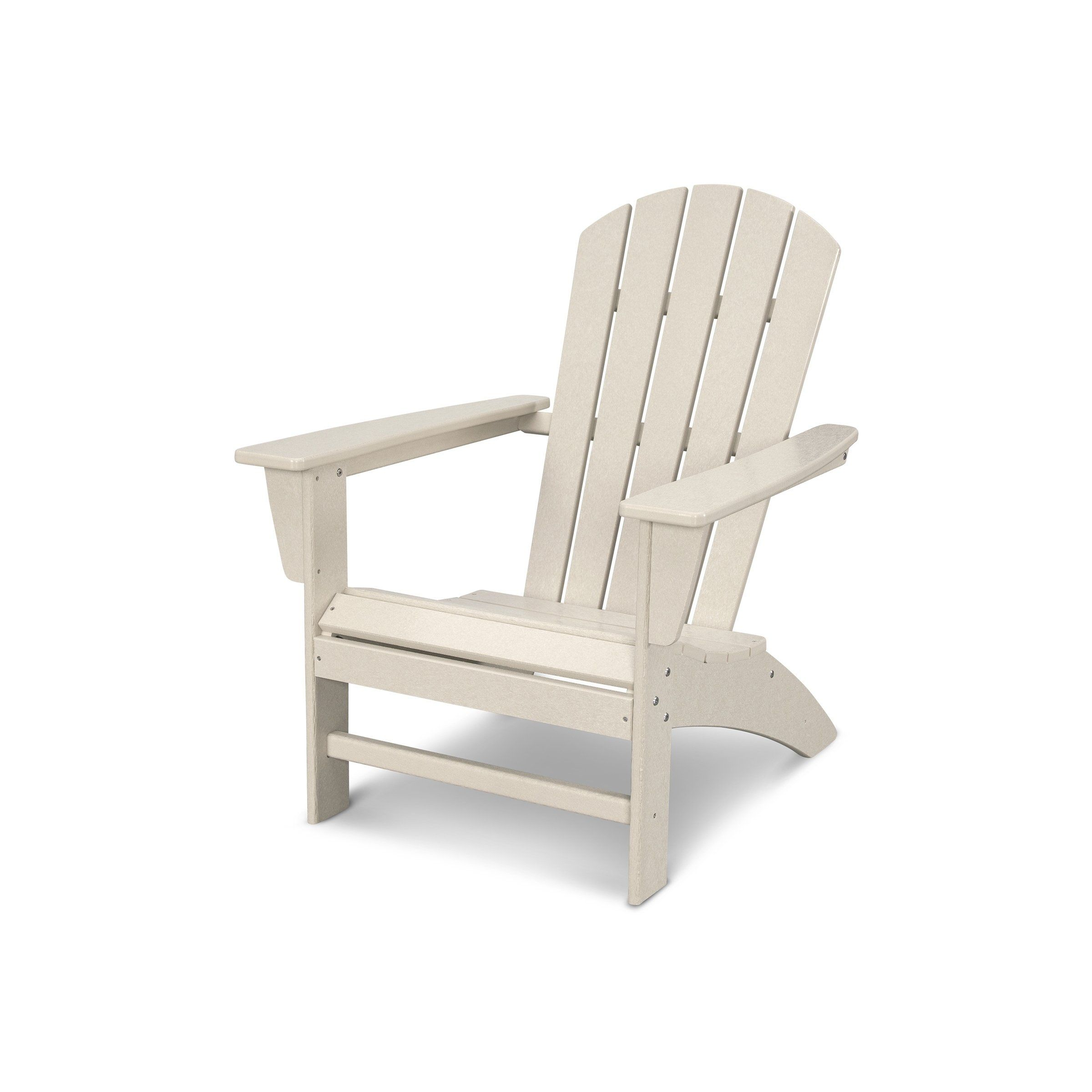 Nautical Adirondack Chair Assembly Required Beige Plastic