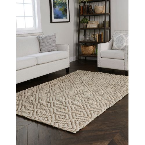Found it at Wayfair.ca - La Cienega Hand-Woven Bleach/Grey Area Rug