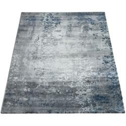 Photo of Paco Home short pile carpet modern oriental pattern vintage style ombre look gray blue Paco Home