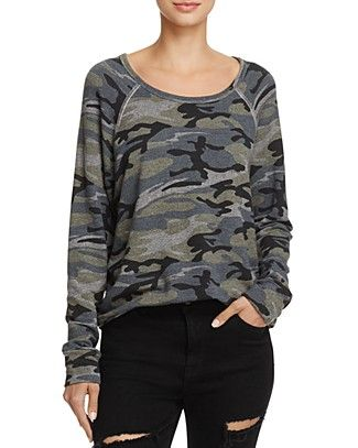 Sundry Camouflage Sweatshirt