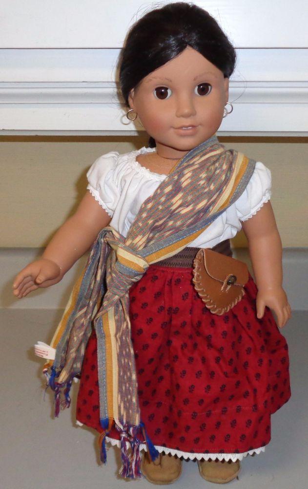 American Girl Doll Pleasant Company Josefina Lace Camisa Indigo Outfit