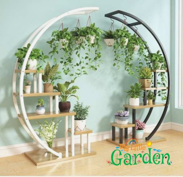 2pcs Flower Storage Rack Holder Garden Rack Stand Plant Shelves Beautiful nice p