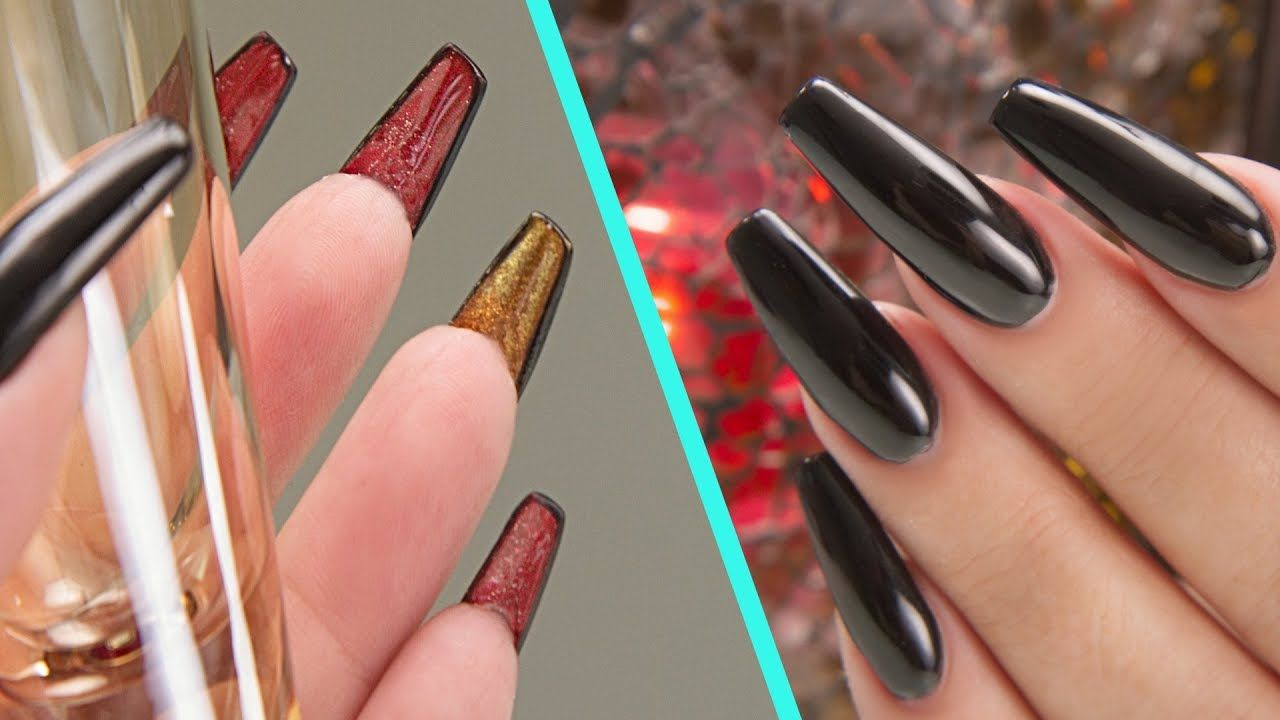 Louboutin Inspired Acrylic Nails - Step by Step Tutorial | M.S.I. ...