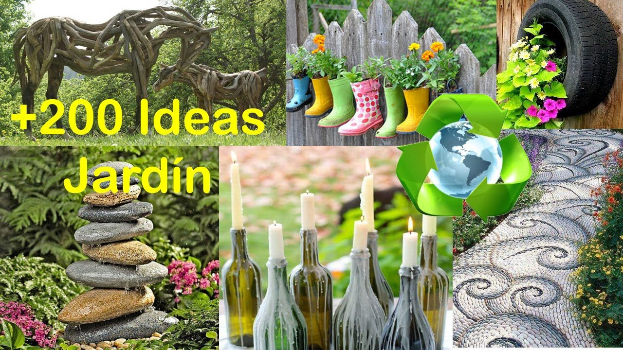 Reciclado para Decorar Jardín +200 Ideas / Recycled for Garden +200 ...