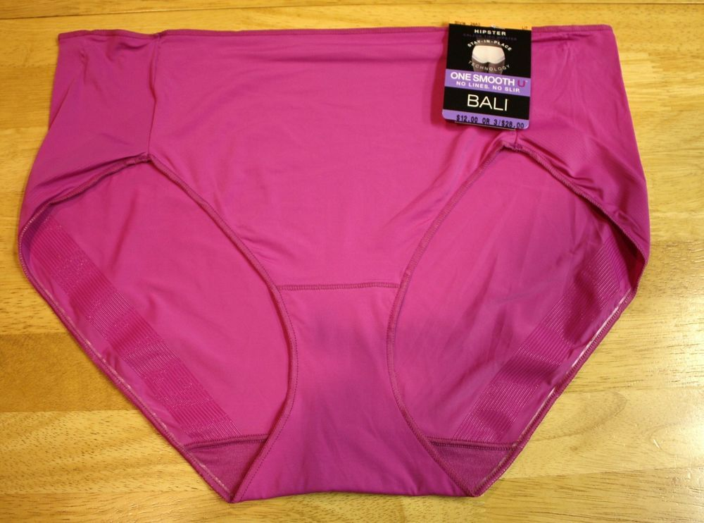 afc03f4c6600 BALI Panties One Smooth U No Lines No Slip Hipster Panty - 24A3 Magenta Size  L/7 #Bali #BriefsHiCuts #cute #comfy #underwear #panty