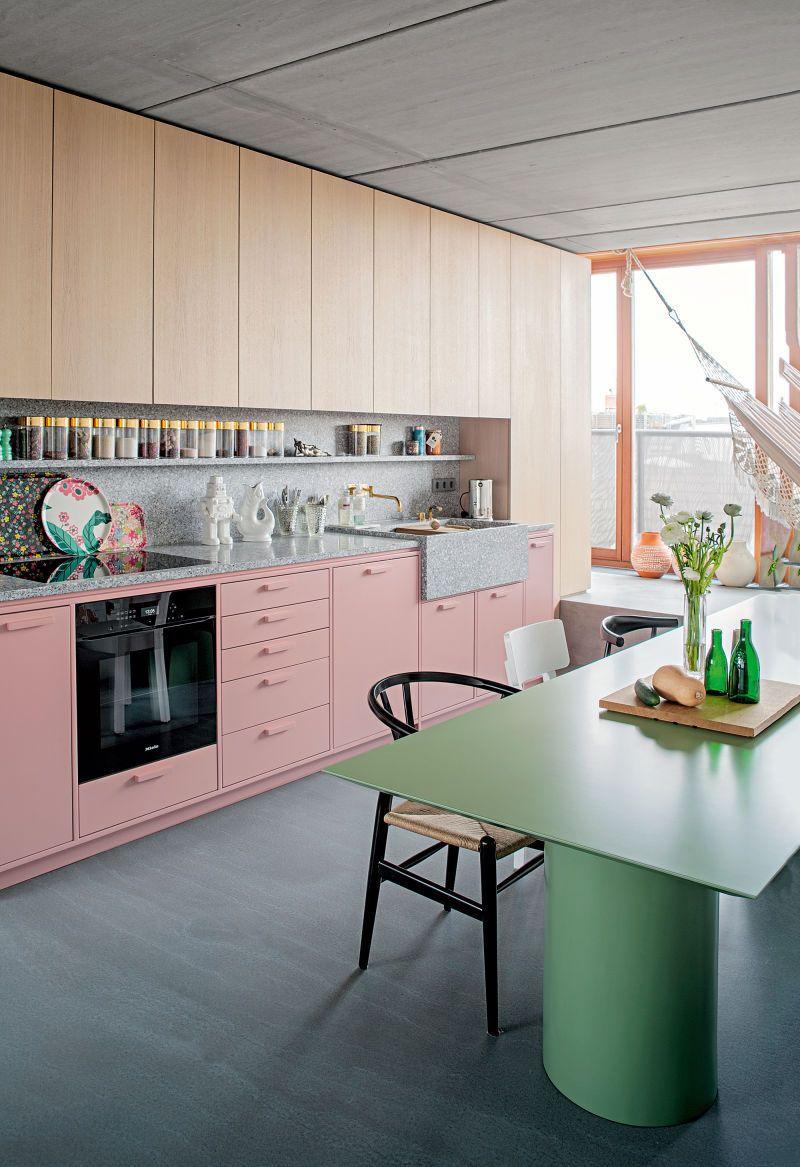 Einfache esszimmerbeleuchtung pink kitchen  dusty blush pink  pinterest  haus esstisch und