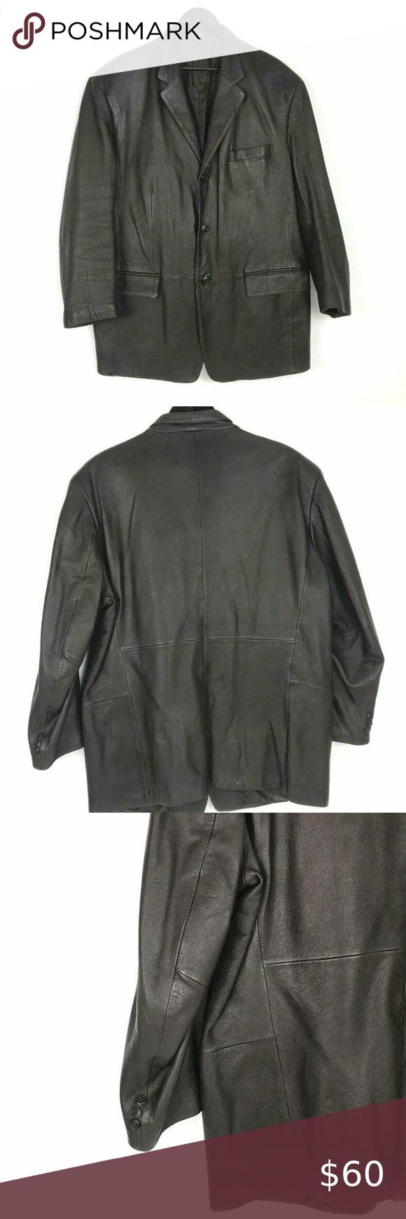 J Ferrar L Black Leather Jacket Blazer Black Leather Jacket Leather Jacket Leather Fashion