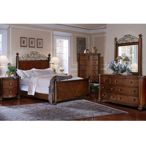 This Beautifully Crafted Hardwood Bedroom Set Is Very Comfortable