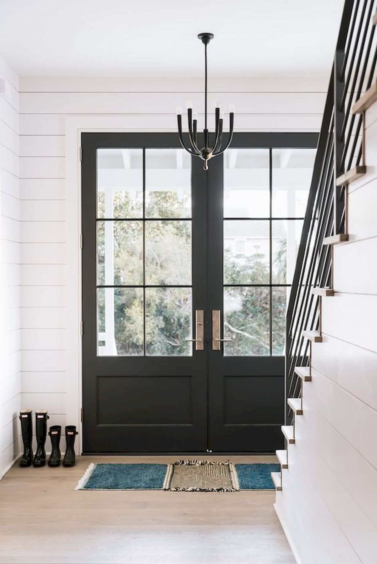 50 Contemporary Modern Interior Door Designs For Most: 70 Best Modern Farmhouse Front Door Entrance Design Ideas