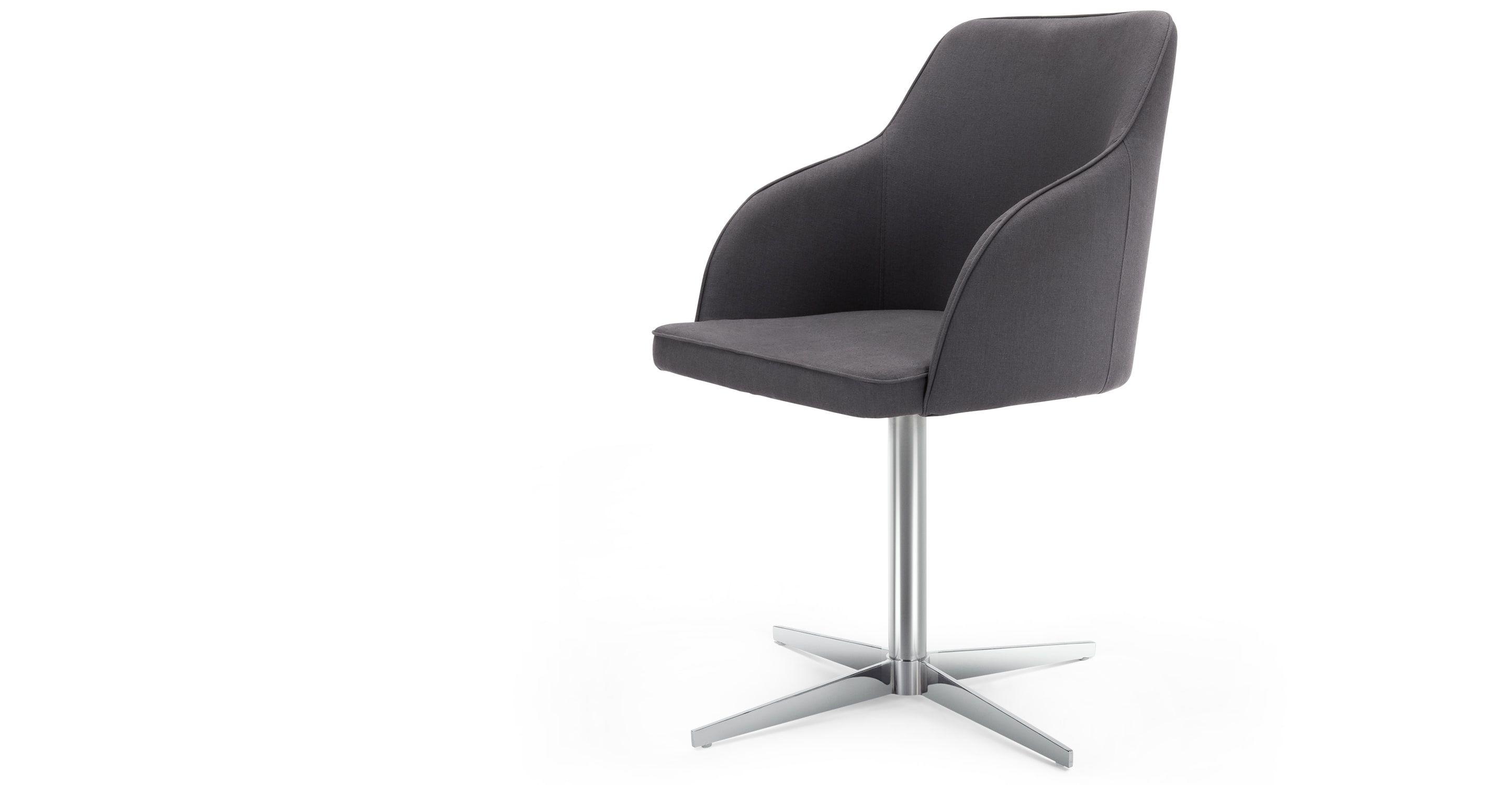 Keira chaise de bureau gris plomb Bureau gris Chaises de