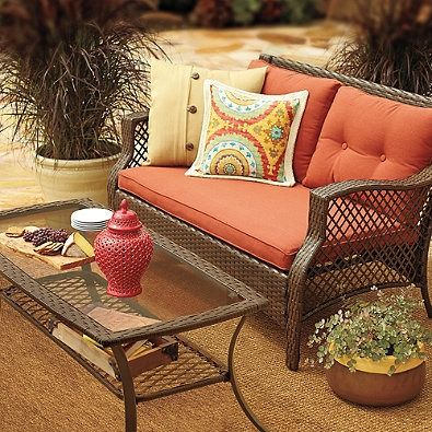 The Stratford Patio Furniture Collection Boasts Durable Frames Made Of Rust Resistant Steel Cushions