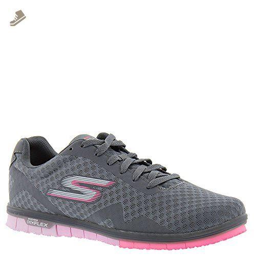 Skechers Sport Womens Microburst Supersonic Fashion Sneaker  5 B(M) USCharcoal