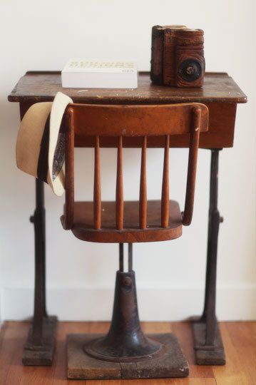 old school desk & chair