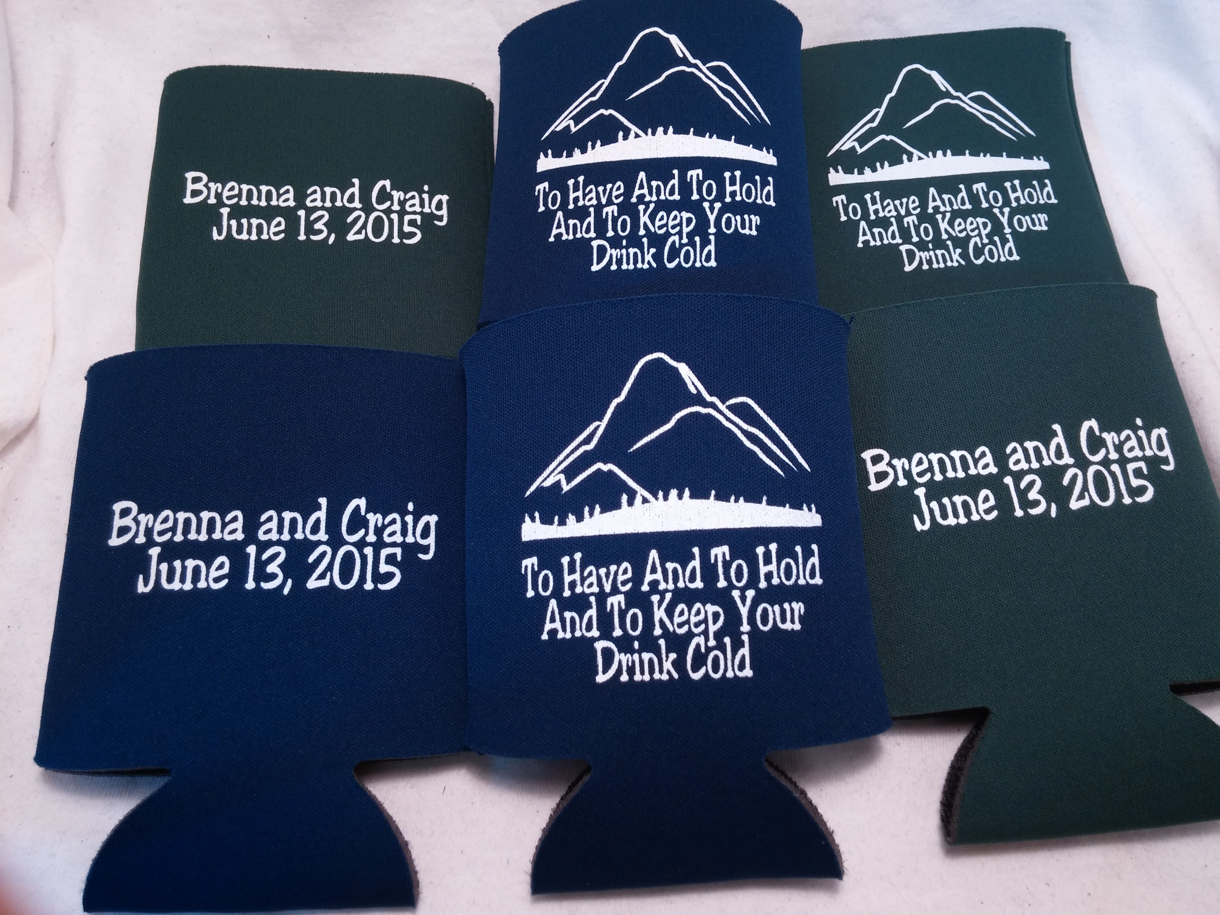 to have and to hold koozie design | Favors and Weddings