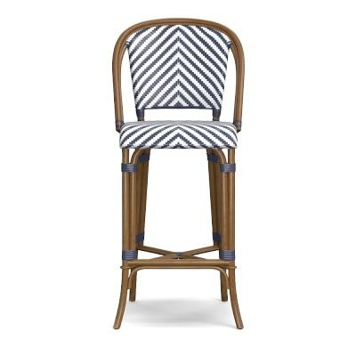 Parisian Bistro Woven Bar Stool #williamssonoma