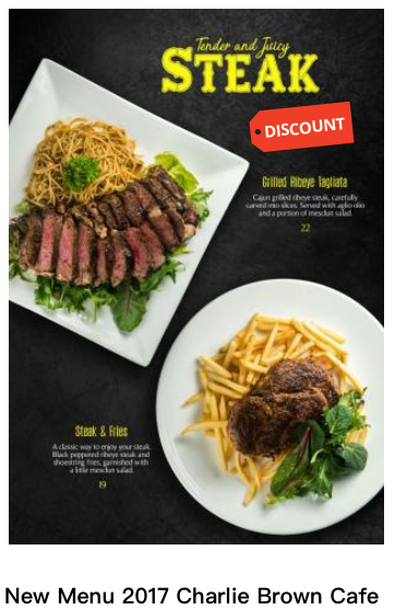 New American Western Restaurant Menu 2017 Launches At Charlie Brown Cafe Cineleisure Orchard Singapore Charlie Brown Cafe Best Grilled Steak Grilled Veggies