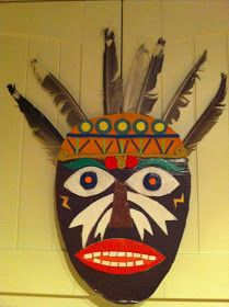 Ellen S Art And Craft Recycled African Mask Kinderkunst